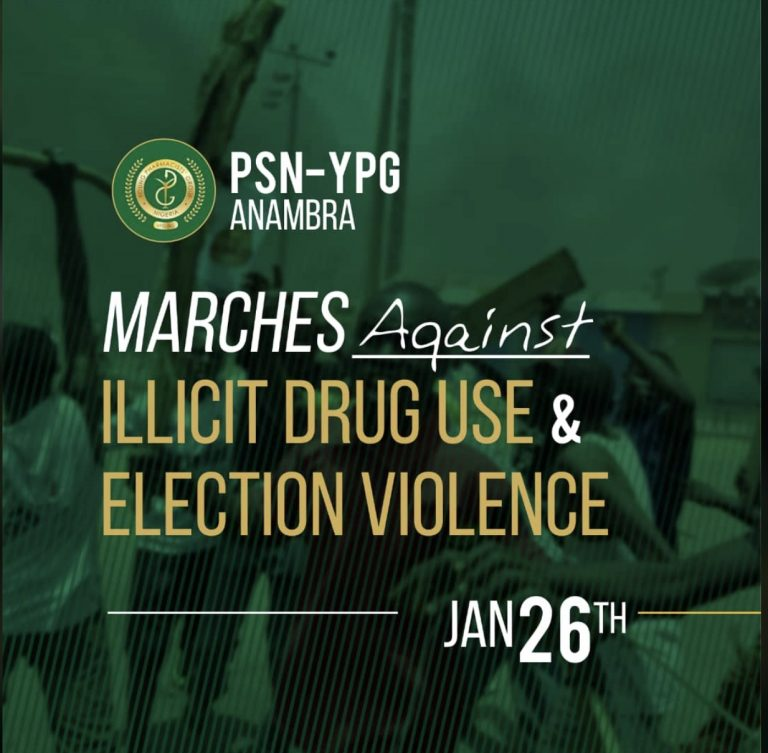Read more about the article PSN-YPG Anambra Marches Against Illicit Drug Use and Election Violence